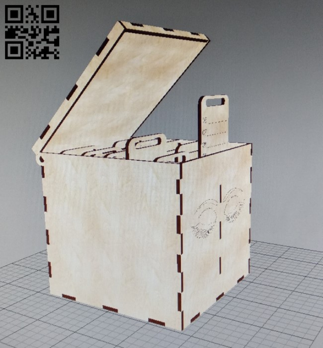 Box E0010851 file cdr and dxf free vector download for Laser cut