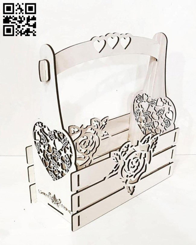 Box for flowers E0010904 file cdr and dxf free vector download for laser cut