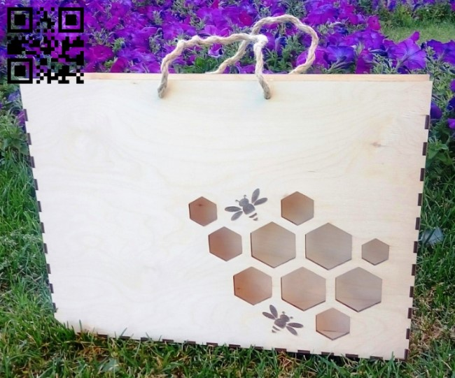 Box for honey E0010771 file cdr and dxf free vector download for Laser cut
