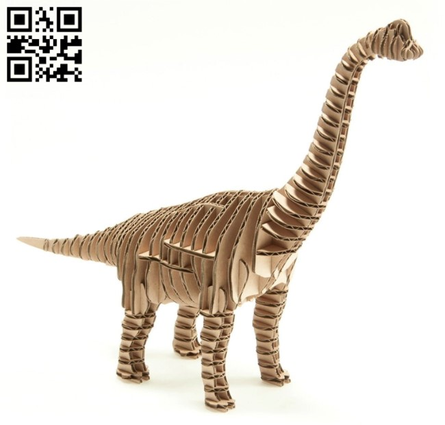 Brachiosaurus dinosaur E0010855 file cdr and dxf free vector download for Laser cut