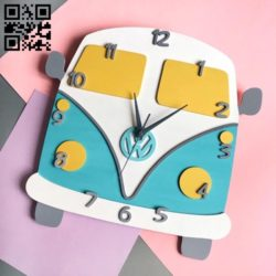 Bus wall clock E0010822 file cdr and dxf free vector download for Laser cut