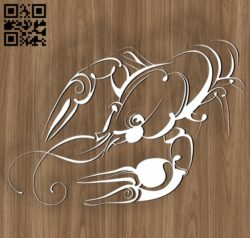 Cancer zodiac E0010700 file cdr and dxf free vector download for laser engraving machines