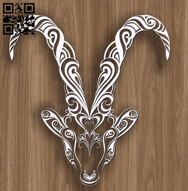 Capricorn zodiac E0010694 file cdr and dxf free vector download for laser engraving machines