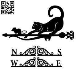 Cat and mouse weather E0010762 file cdr and dxf free vector download for Laser cut Plasma