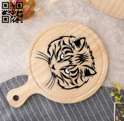 Cat head E0010907 file cdr and dxf free vector download for laser engraving machines