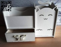 Cat organizer E0010703 file cdr and dxf free vector download for laser cut