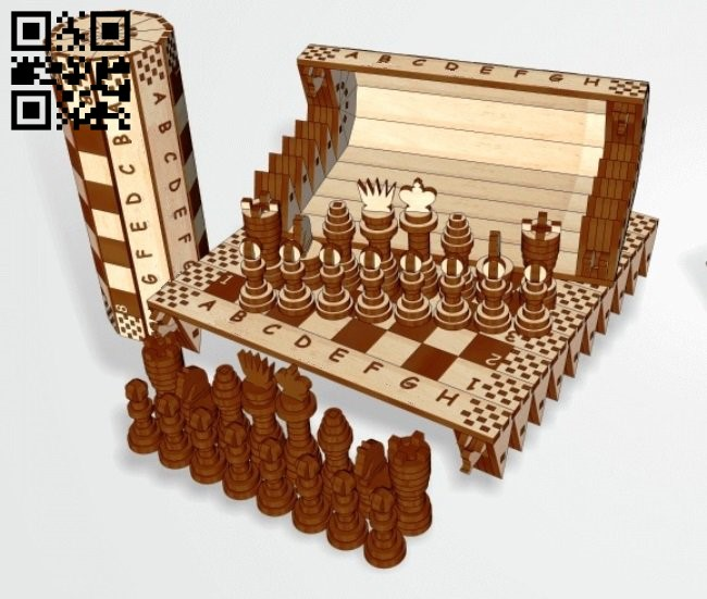 Chess E0010761 file cdr and dxf free vector download for Laser cut