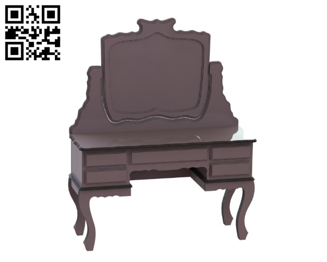 Chest of drawers E0010862 file cdr and dxf free vector download for Laser cut