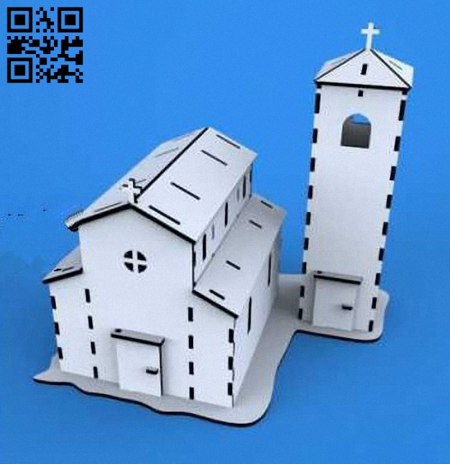 Church E0010618 file cdr and dxf free vector download for laser cut