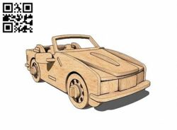Convertible car E0010748 file cdr and dxf free vector download for Laser cut