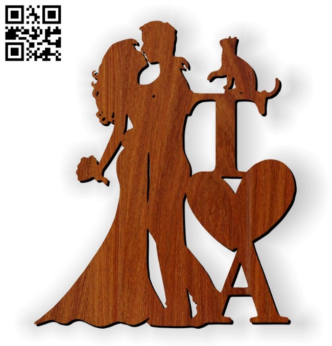 Couple topper E0010849 file cdr and dxf free vector download for Laser cut