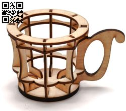Cup holder E0010893 file cdr and dxf free vector download for Laser cut