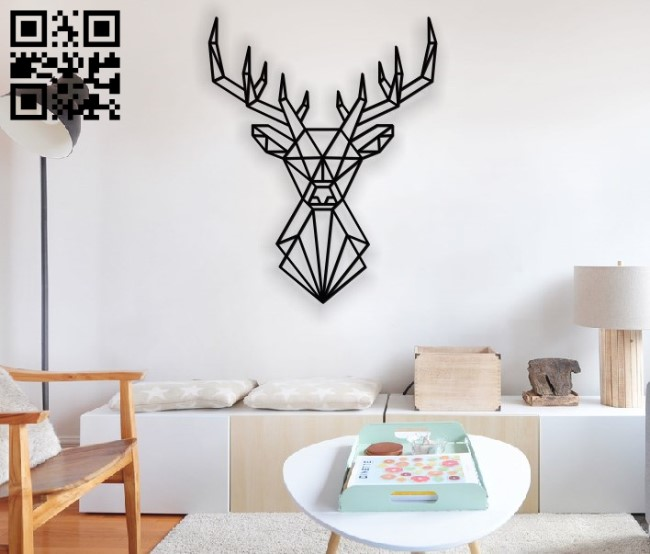 Deer head E0010891 file cdr and dxf free vector download for Laser cut