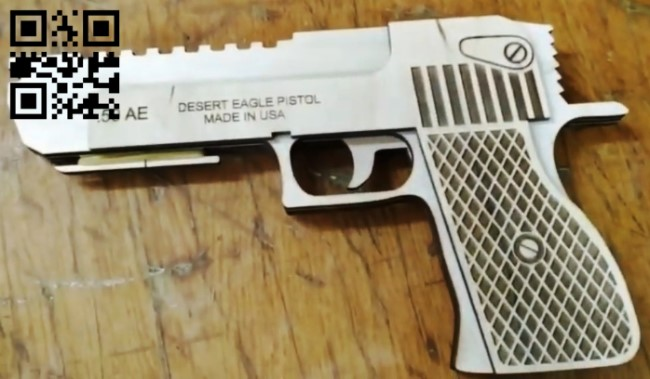 Desert Eagle gun E0010911 file cdr and dxf free vector download for Laser cut