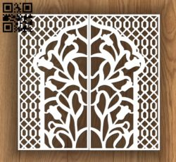 Design pattern door E0010813 file cdr and dxf free vector download for Laser cut CNC
