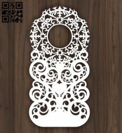 Design pattern door E0010860 file cdr and dxf free vector download for Laser cut CNC