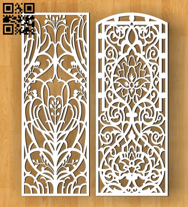 Design pattern screen panel E0010631 file cdr and dxf free vector download for Laser cut cnc