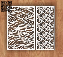 Design pattern screen panel E0010632 file cdr and dxf free vector download for Laser cut cnc