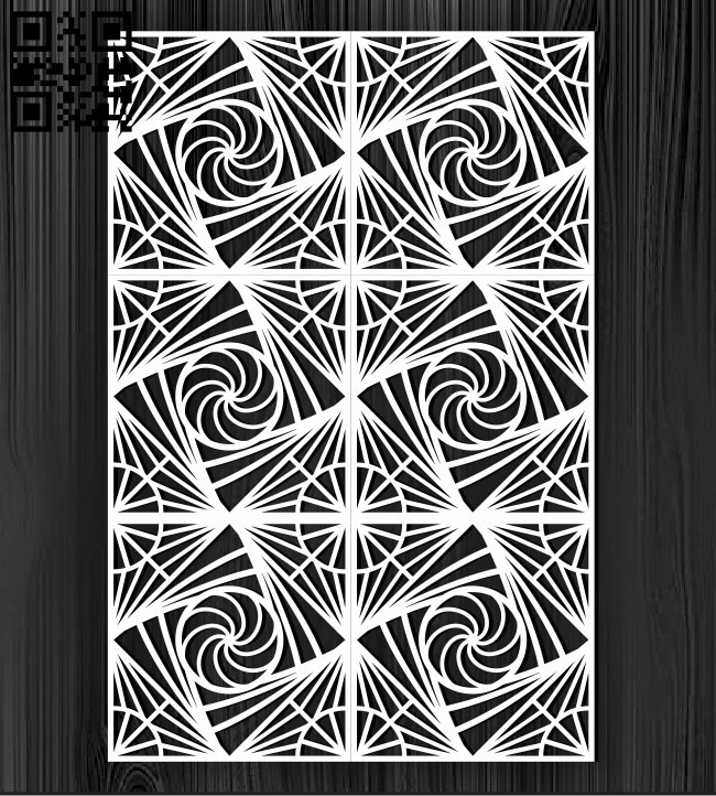 Design pattern screen panel E0010873 file cdr and dxf free vector download for Laser cut cnc