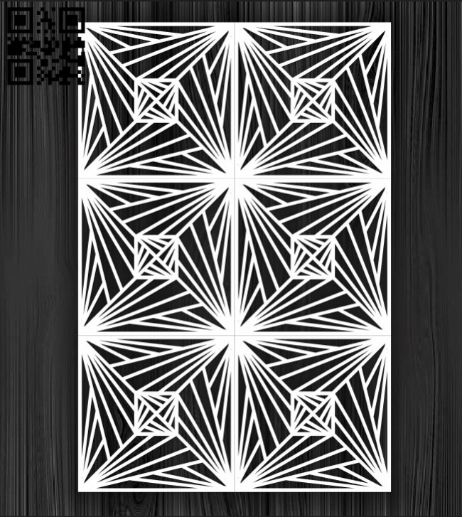 Design pattern screen panel E0010876 file cdr and dxf free vector download for Laser cut cnc
