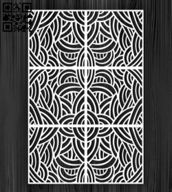 Design pattern screen panel E0010877 file cdr and dxf free vector download for Laser cut cnc