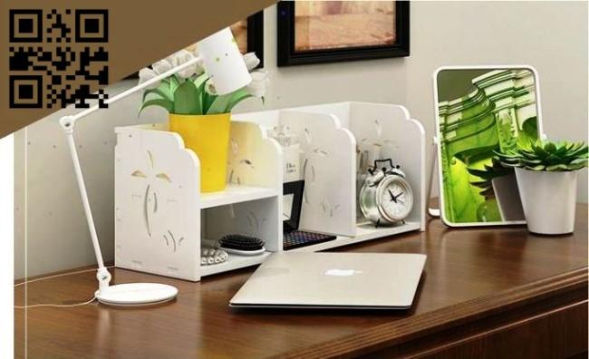 Desktop shelves E0010622 file cdr and dxf free vector download for Laser cut