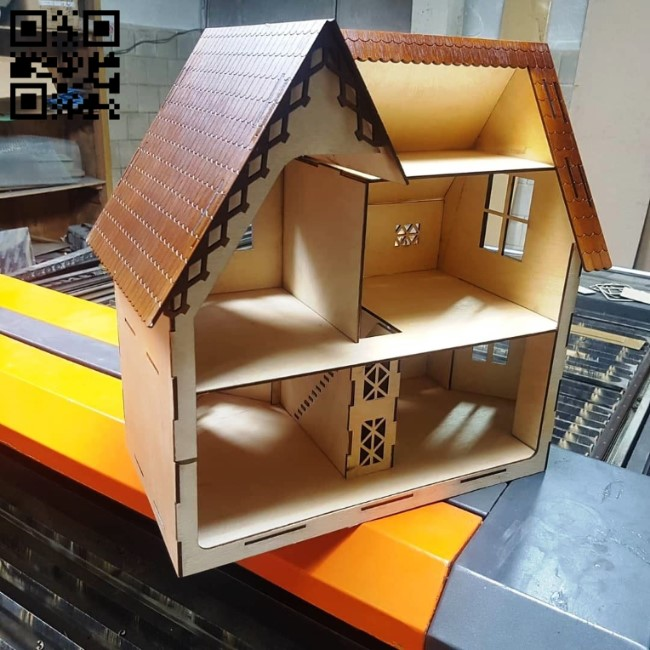 Doll house E0010610 file cdr and dxf free vector download for laser cut