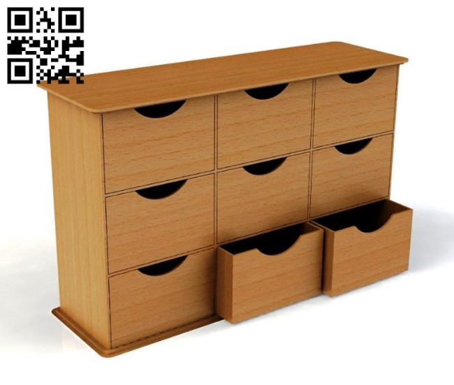 Drawers E0010842 file cdr and dxf free vector download for Laser cut