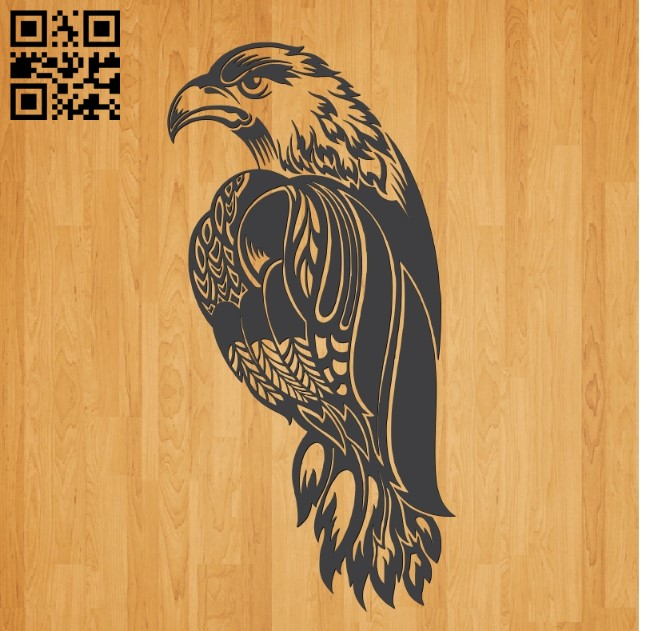 Eagle E0010657 file cdr and dxf free vector download for laser engraving machines