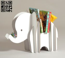 Elephant bookshelf E0010777 file cdr and dxf free vector download for Laser cut