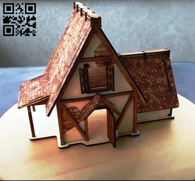 Farmer's house E0010643 file cdr and dxf free vector download for Laser cut