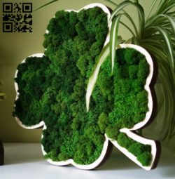 Four leaf clover E0010574 file cdr and dxf free vector download for Laser cut