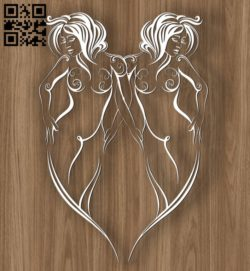 Gemini zodiac E0010699 file cdr and dxf free vector download for laser engraving machines