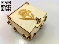 Gift box E0010846 file cdr and dxf free vector download for Laser cut