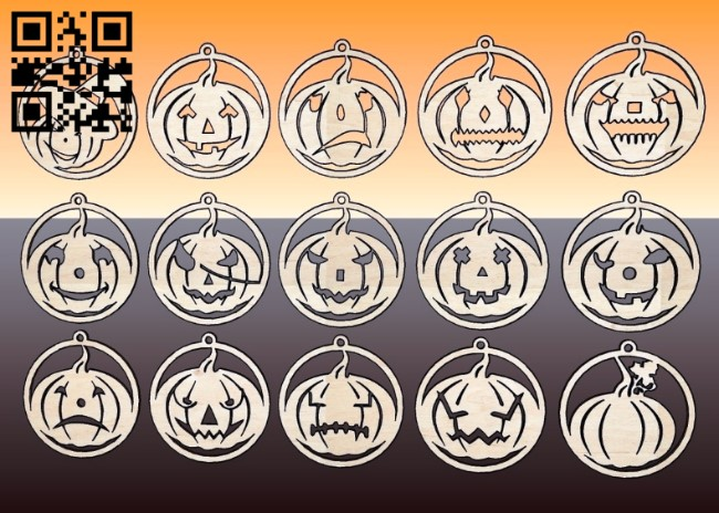 Halloween key chain E0010717 file cdr and dxf free vector download for laser cut