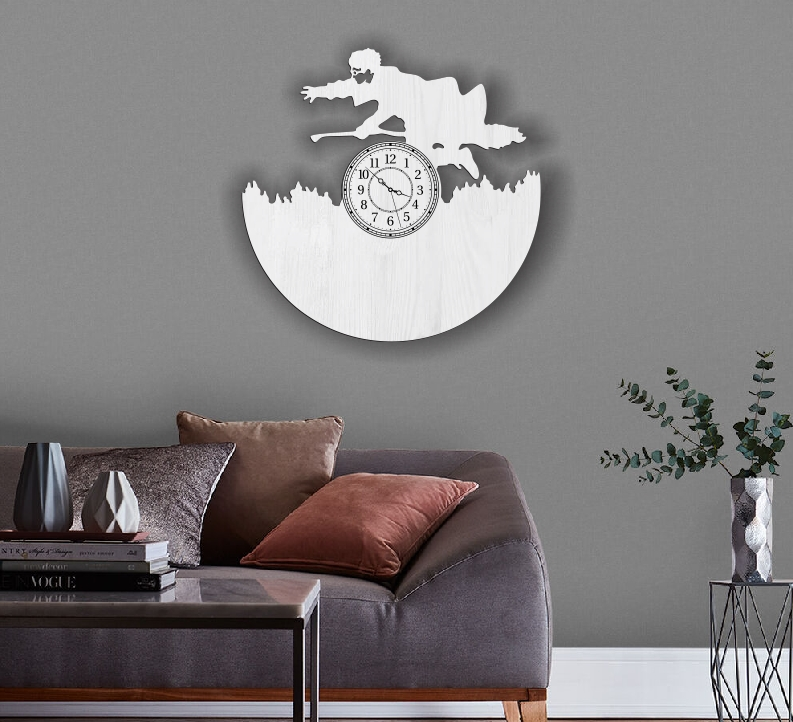 Harry potter wall clock E0010679 file cdr and dxf free vector download for Laser cut