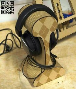 Headphone stand E0010742 file cdr and dxf free vector download for Laser cut