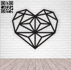 Heart E0010589 file cdr and dxf free vector download for Laser cut