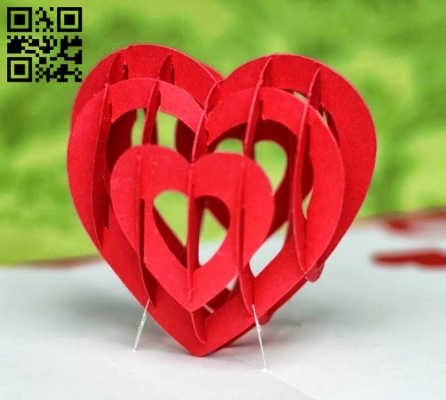 Heart paper cut file cdr and dxf E0010673 free vector download for Laser cut