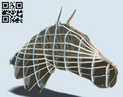 Horse E0010913 file cdr and dxf free vector download for Laser cut