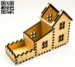 House stand E0010740 file cdr and dxf free vector download for Laser cut