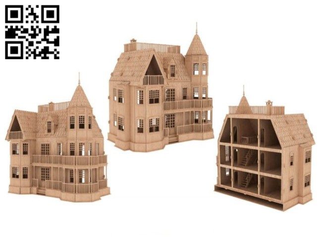 Hulk Castle E0010830 file cdr and dxf free vector download for Laser cut