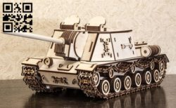 Isu152 tank E0010571 file cdr and dxf free vector download for Laser cut