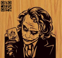 Joker E0010581 file cdr and dxf free vector download for laser engraving machines