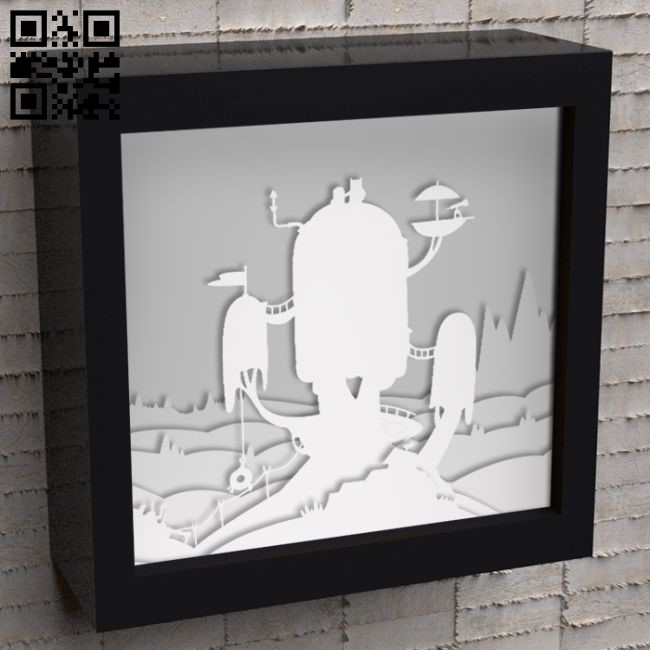 Light box E0010886 file cdr and dxf free vector download for Laser cut