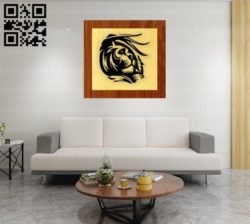 Lion E0010906 file cdr and dxf free vector download for laser engraving machines