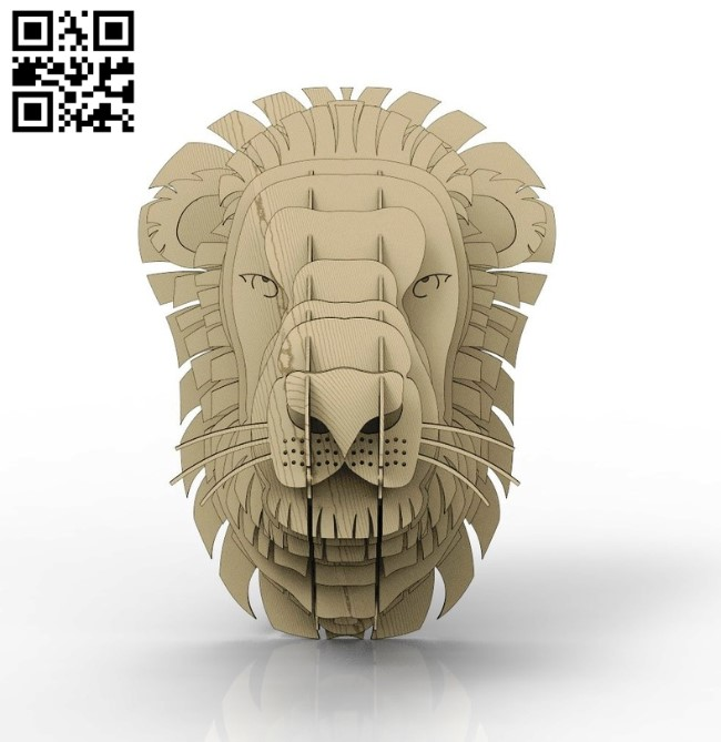 Lion head E0010782 file cdr and dxf free vector download for laser cut