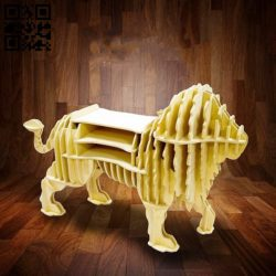 Lion shelf E0010745 file cdr and dxf free vector download for Laser cut