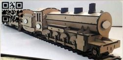 Locomotive E0010720 file cdr and dxf free vector download for laser cut