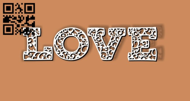 Love E0010872 file cdr and dxf free vector download for Laser cut